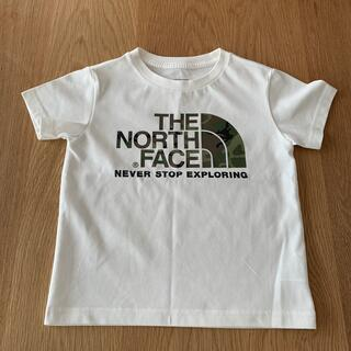 THE NORTH FACE - THE NORTH FACE size100 ホワイト×カモフラ Tシャツ