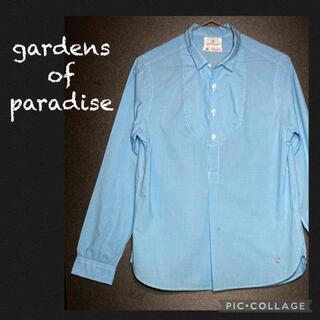 コモリ(COMOLI)のgardens of paradise プルオーバー シャツ ギンガムチェック(シャツ/ブラウス(長袖/七分))