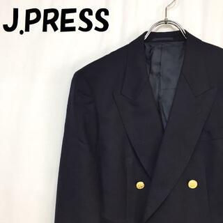 ジェイプレス(J.PRESS)の【人気】ジェイプレス 金ボタン ダブルジャケット ウール100% サイズ156(テーラードジャケット)