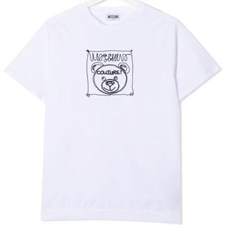 モスキーノ(MOSCHINO)の【新作】モスキーノ ベア刺繍カットソーTシャツ ホワイト 14(Tシャツ(半袖/袖なし))