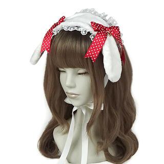 Angelic Pretty - ロップイヤーBunnyヘッドドレス アカ