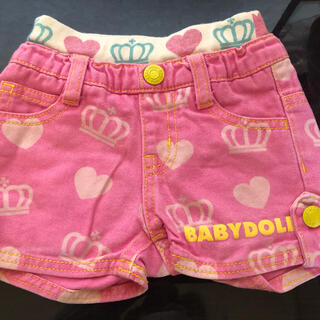 ベビードール(BABYDOLL)のBABYDOLL ハーフパンツ ピンク(パンツ/スパッツ)