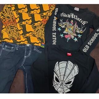 パーティーパーティー(PARTYPARTY)のロンT スカル パンツ ズボン ラッドカスタム チャビーギャング ベビードール(Tシャツ/カットソー)