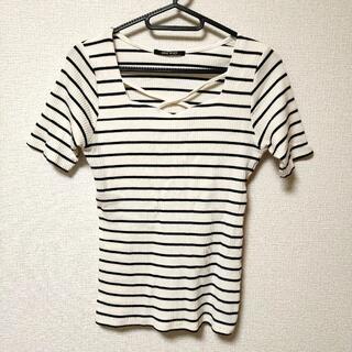 ワンウェイ(one*way)のワンコイン☆彡oneway ワンウェイ レディース Tシャツ ボーダー サイズM(Tシャツ(半袖/袖なし))