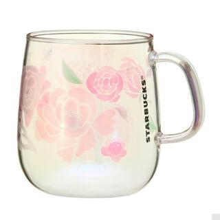 Starbucks Coffee - ★スターバックス♡耐熱グラス マグ ホログラム フラワーズ355ml