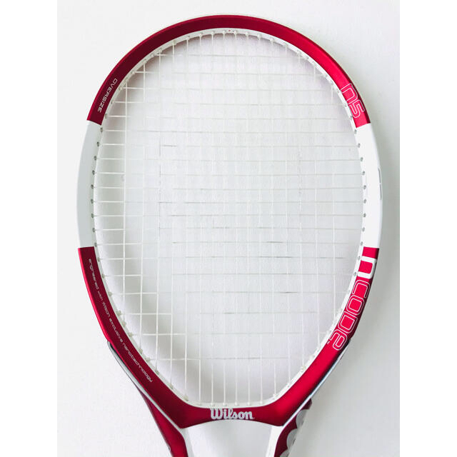 wilson(ウィルソン)の【美品】ウィルソン『Nコード N5/NCODE』テニスラケット/レッド/テニス肘 スポーツ/アウトドアのテニス(ラケット)の商品写真