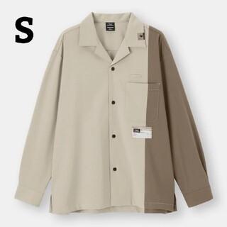 ジーユー(GU)のGU × MIHARAYASUHIROのオープンカラーシャツカラーベージュ(シャツ)