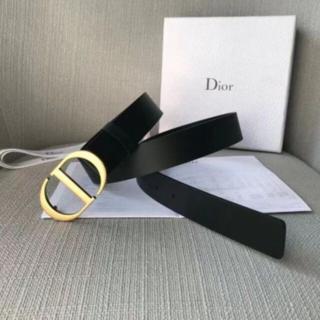 Dior - 未使用Dior ベルト ブラック 4.0cm