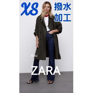 ザラ(ZARA)のZARA (XS カーボングレー) 撥水加工トレンチコート(トレンチコート)