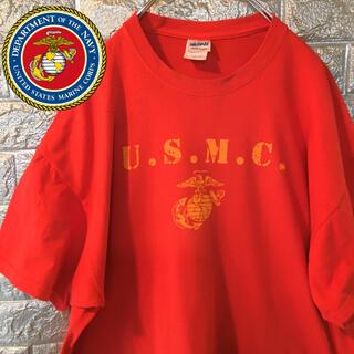 ギルタン(GILDAN)の【US輸入】GILDAN 90s  USMC 米国海兵隊 Tシャツ ビッグサイズ(Tシャツ/カットソー(半袖/袖なし))