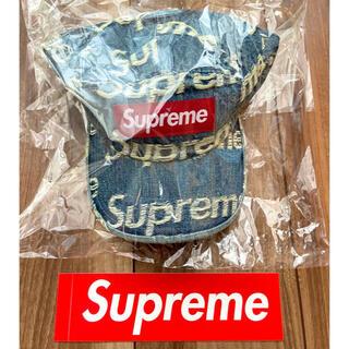 Supreme - Supreme Frayed Logos Denim Camp Cap Blue