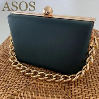 エイソス(asos)の◇ASOS◇ newlook ミニがま口ボックスバッグ レザーパーティバッグ(ショルダーバッグ)