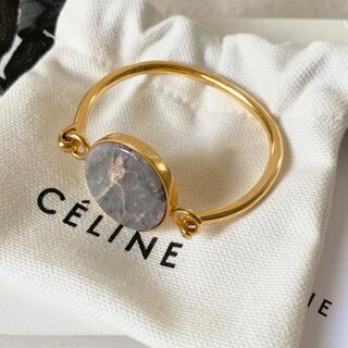 celine - セリーヌ ストーン コイン ブレスレット 石付 フィービー S 希少 美品