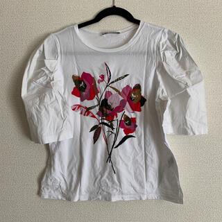 ザラ(ZARA)のZARA ザラ デザイン Tシャツ(Tシャツ(半袖/袖なし))