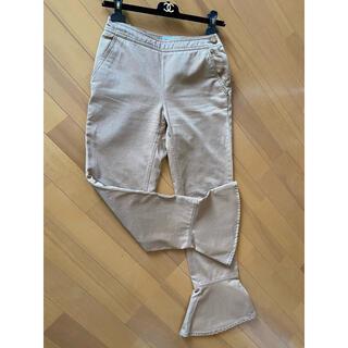 シャネル(CHANEL)のシャネル パンツ 裾フレアが可愛い♡ ブラウン デニム フリル(デニム/ジーンズ)