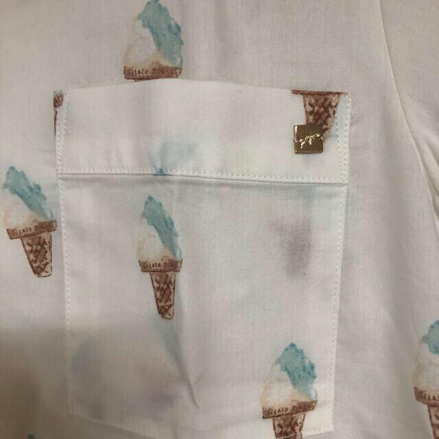 ジェラートピケ パジャマ 上下 セット レディースのルームウェア/パジャマ(ルームウェア)の商品写真