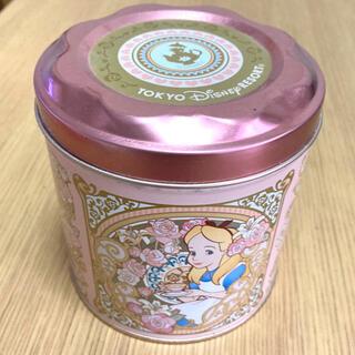 ディズニー(Disney)のアリス お菓子缶(小物入れ)
