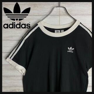 adidas - 【人気デザイン】アディダスオリジナルス スリーストライプ 胸元刺繍ロゴ Tシャツ