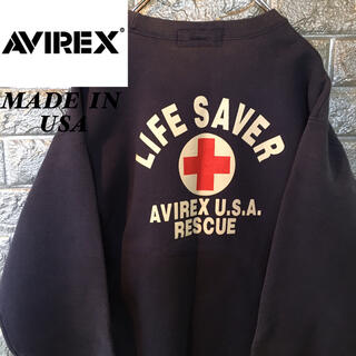AVIREX - 【USA製】AVIREX アヴィレックス スウェット トレーナー 38ビンテージ