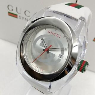 グッチ(Gucci)の新品・大人気!GUCCI WATCH SYNCグッチ腕時計ホワイト☆ユニセックス(ラバーベルト)