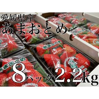 愛媛県産【あまおとめ】秀品 特大A 8パック2箱 約2.2kg ※残り限定2名様(フルーツ)