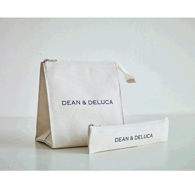 DEAN & DELUCA(ディーンアンドデルーカ)のDEAN&DELUCA ランチバッグ&カトラリーポーチ 2個セット インテリア/住まい/日用品のキッチン/食器(弁当用品)の商品写真