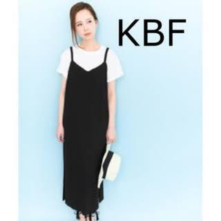 ケービーエフ(KBF)のKBF リブニットキャミワンピース(ロングワンピース/マキシワンピース)