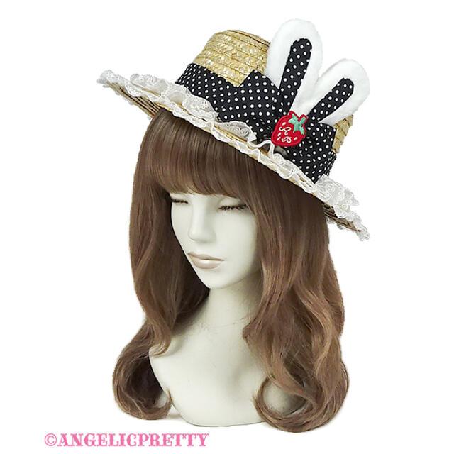 Angelic Pretty(アンジェリックプリティー)の【最終値下げ】Little StrawberryストローHat レディースの帽子(麦わら帽子/ストローハット)の商品写真