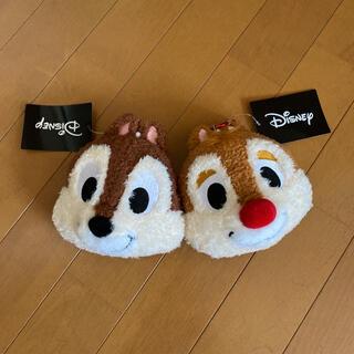ディズニー(Disney)のチップとデール ぬいぐるみパスケース(キャラクターグッズ)