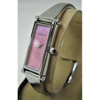 グッチ(Gucci)の美品 婦人用 腕時計 クオーツ レディース グッチGUGGI 1500L ピンク(腕時計)