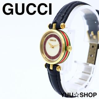 グッチ(Gucci)の人気【電池新品】GUCCI シェリーライン ミニ レディース 腕時計 美品(腕時計)