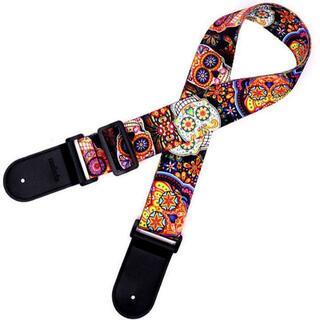 即買OK ギター ストラップ (ドクロ メキシカンスカル カラベラ)(アコースティックギター)