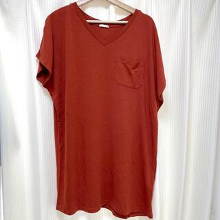 GU - GU テラコッタカラー Tシャツ