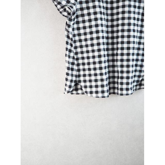 IENA(イエナ)のIENA(イエナ) ギンガムチェック ブラウス 美品 白 黒 レディースのトップス(シャツ/ブラウス(半袖/袖なし))の商品写真