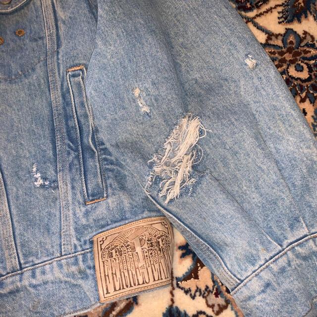 HELMUT LANG(ヘルムートラング)の~90's FARRE JEANS Damaged Denim Jacket メンズのジャケット/アウター(Gジャン/デニムジャケット)の商品写真