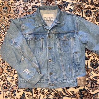 HELMUT LANG - 90's FARRE JEANS Damaged Denim Jacket