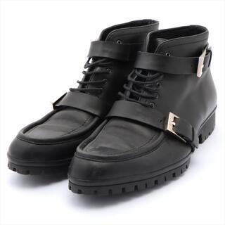 グッチ(Gucci)のグッチ  レザー 41 1/2 ブラック メンズ ブーツ(ブーツ)