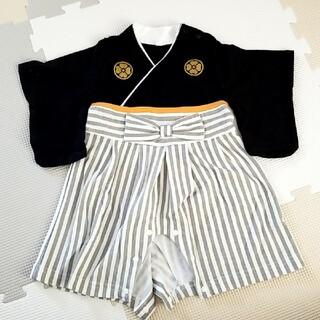 袴ロンパース男の子サイズ60(和服/着物)