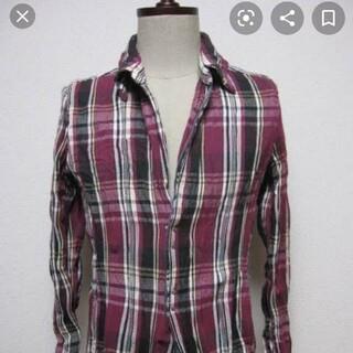 アタッチメント(ATTACHIMENT)のジュンハシモト フックシャツ 美品! サイズ2 フジパープル(シャツ)