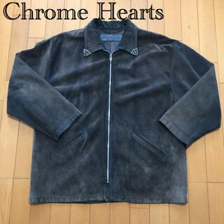 Chrome Hearts - クロムハーツ スウェードレザージャケット ダガージップ フレアニー フローラル