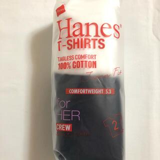 ヘインズ(Hanes)のヘインズ HANES  クルーネックTシャツ バイカラー   L 2枚セット(Tシャツ(半袖/袖なし))