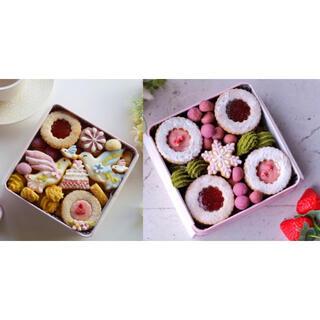 銀雪の里 幸せの贈り物 クッキー缶 いちご 激レア 完売品(菓子/デザート)