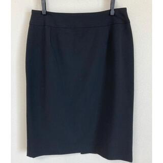 クイーンズコート(QUEENS COURT)のQUEENS COURT 黒スカート(ひざ丈スカート)