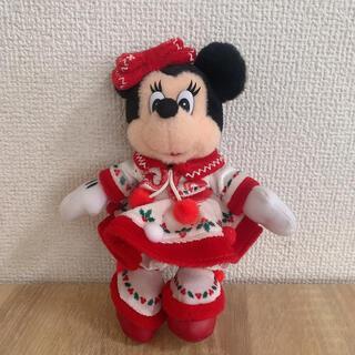 ディズニー(Disney)のミニーぬいぐるみバッジ(キャラクターグッズ)