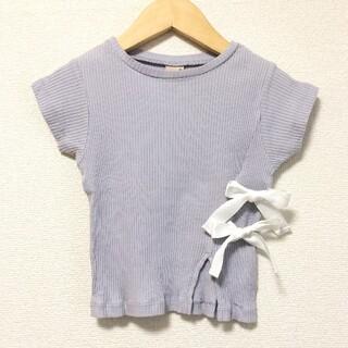 petit main - petit main プティマイン 100 リボンカットソー Tシャツ トップス