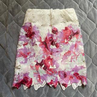 デイライルノアール(Delyle NOIR)のデイライルノアール 水彩花柄スカート(ミニスカート)