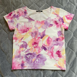 ワンウェイ(one*way)のone way 水彩フラワー (Tシャツ(半袖/袖なし))