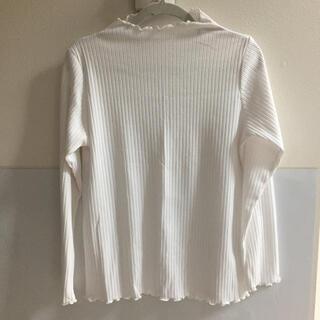 チャオパニックティピー(CIAOPANIC TYPY)のホワイト 袖フリルロンT(Tシャツ(長袖/七分))