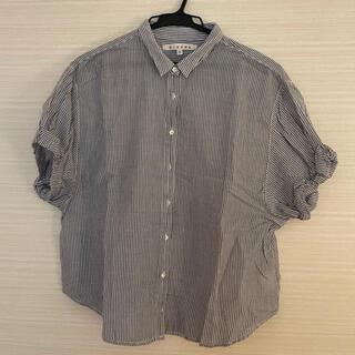 エストネーション(ESTNATION)のxirena ストライプシャツ(シャツ/ブラウス(半袖/袖なし))