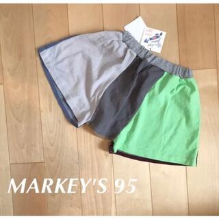 MARKEY'S - 新品☆マーキーズ  サルエルハーフパンツ マルチカラー 95 monmimi